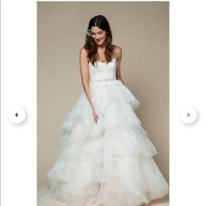 Bliss by Monique lhuillier strapless ball gown
